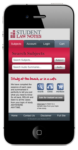 Law Notes available for your University study and Case Studies